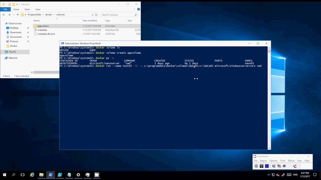 How To Create A Shared Volume For Windows Server Container With Docker  Container