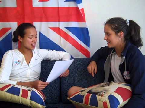 Anne Keothavong asks Laura Robson - 'What's your favourite...'