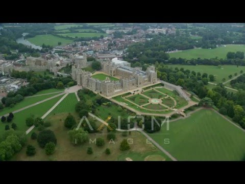 Windsor Castle, England Aerial Stock Footage | AX114 310 4K youtube