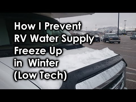 rv water hookup freezing