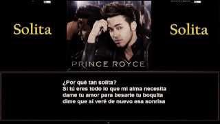 Prince Royce - Solita + Letra