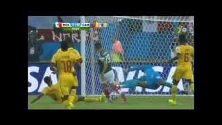 Gol de Oribe Peralta vs Camerún - Narración de Martinoli - Brasil 2014