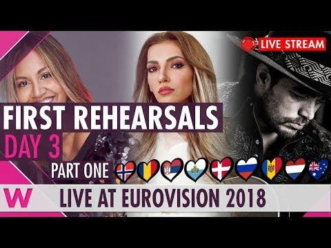 Eurovision 2018 Rehearsals - Norway, Romania, Serbia and San Marino (Livestream)