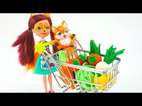 Играем с пластилином, учимся лепить фрукты и овощи