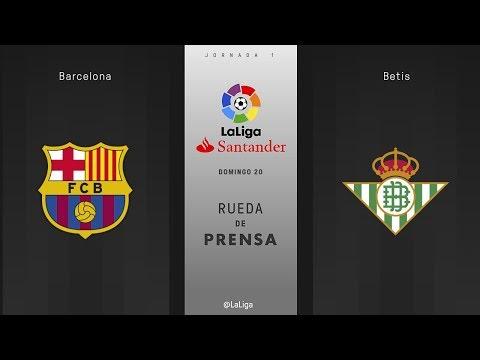 Rueda de prensa Barcelona vs Betis