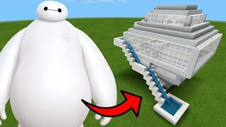 How To Make a BAYMAX Water Slide in Minecraft PE