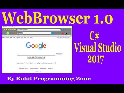 WebBrowser In C# Visual Studio By Rohit Programming Zone