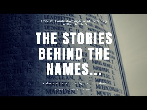 THE STORIES BEHIND THE NAMES - 100 YEARS LATER