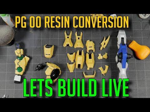 LIVE BUILD MANIAC STUDIOS PG 00 RESIN KIT