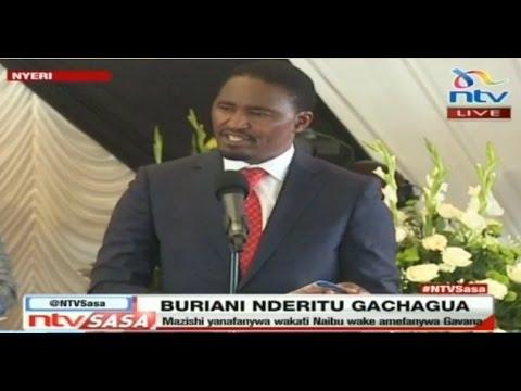 CS Kiunjuri's speech at Governor Gachagua's burial