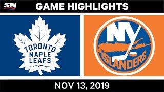 NHL Highlights   TOR vs. NYI - Nov. 13, 2019