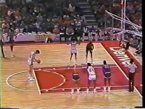 NBA January 22, 1978 NY Knicks at Denver Nuggets