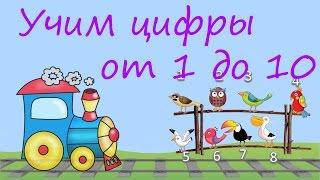 УЧИМ ЦИФРЫ от 1 до 10 / Развивающий мультфильм для детей от 2-х до 5-и лет