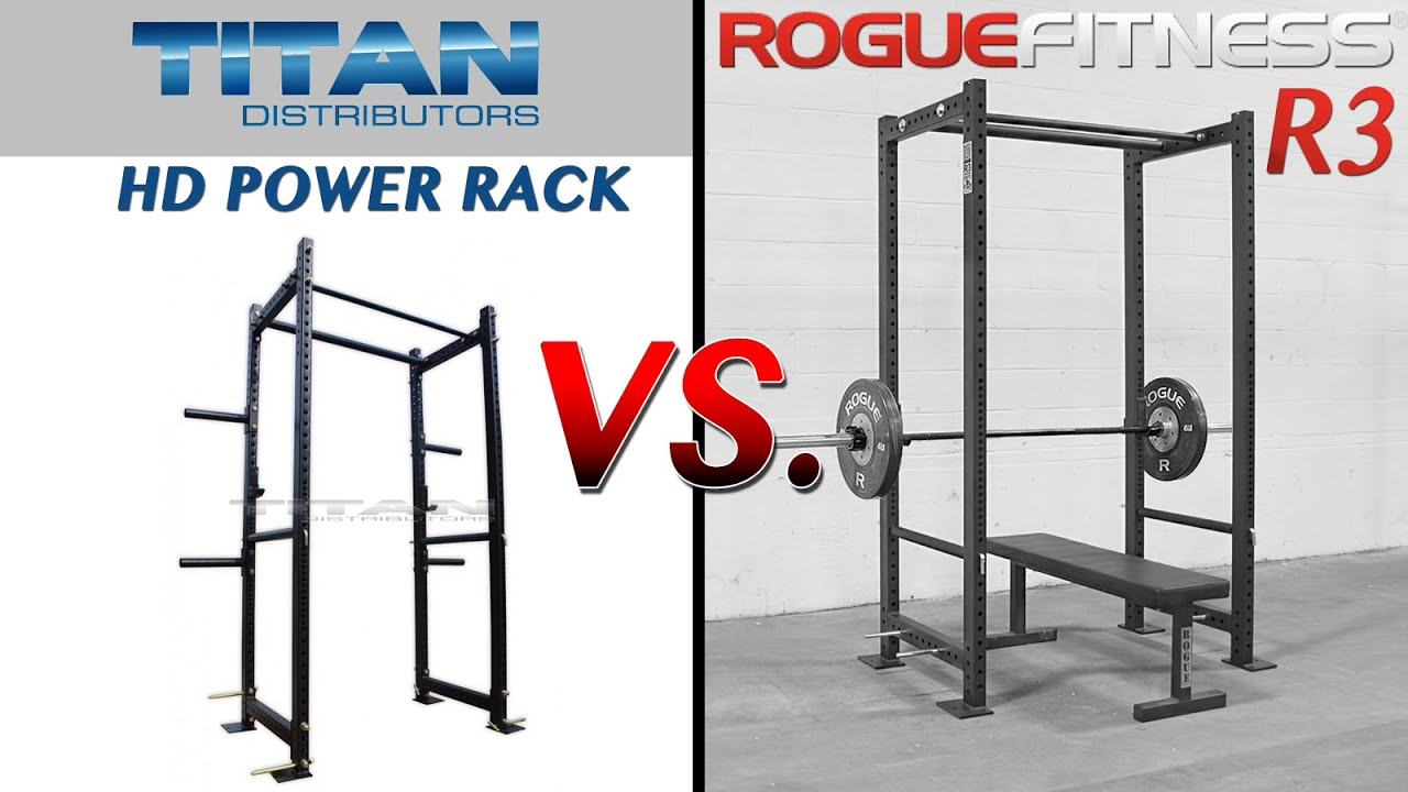 titan t 3 hd power rack vs rogue r3 power rack detailed comparison