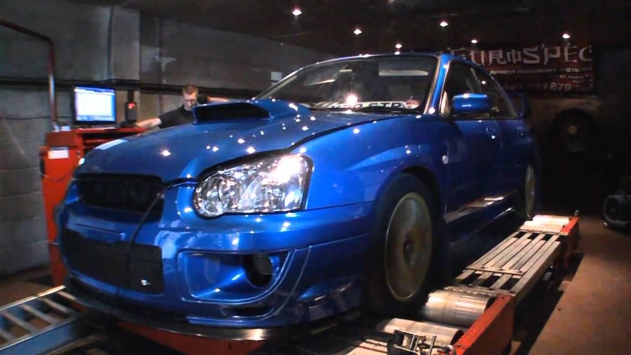 Subaru Impreza Wrx Sti Type Uk Blitz Nur Spec R Exhaust On The Dyno Rolling Road Eurospec 2000 You