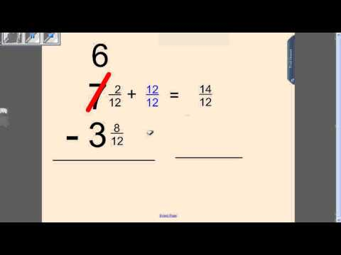 Vote No on : How to Add and Subtract Fractions With Regrouping in ...