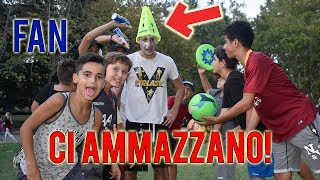 FAN Ci Riempiono Di Pallonate! CALCIO Challenge Vs i Fan *DOLOROSO*