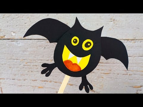 Cute Movable Paper Bat | fun Halloween crafts for kids | Activities for Kids