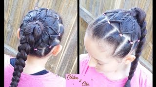 Braided Ponytail Flower | Hairstyles for school | Hairstyles for sports | Braided Hairstyles
