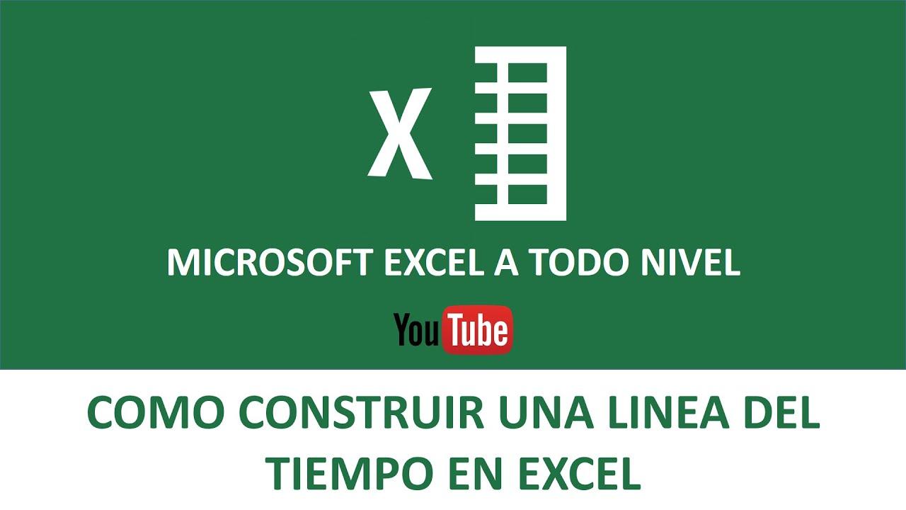 Linea del Tiempo en Excel | Cálculo del tiempo en Excel - YouTube