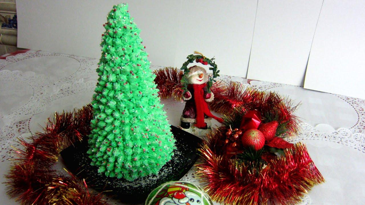 Ёлка своими руками: новогодние украшения на торт