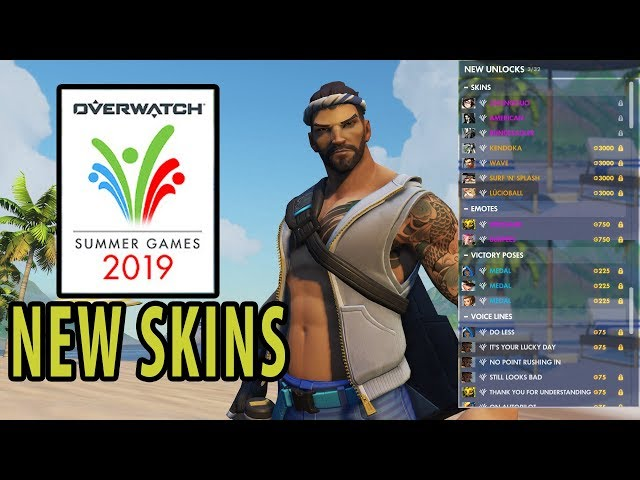All 2019 Overwatch Summer Games Skins, Emotes, and More