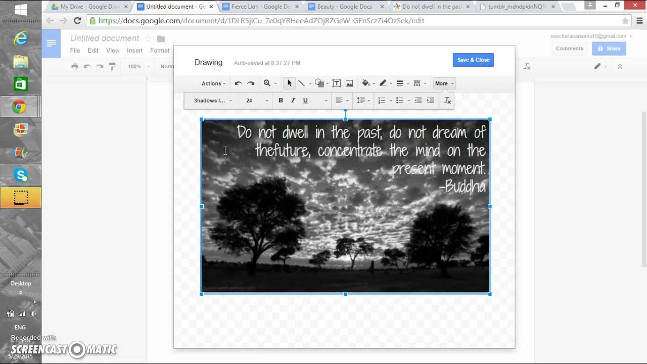 how to draw over google docs