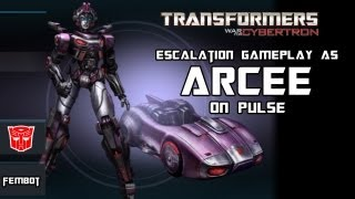 Transformers War for Cybertron - Arcee on Pulse Escalation Gameplay w/ EdwrdTriggaHnds