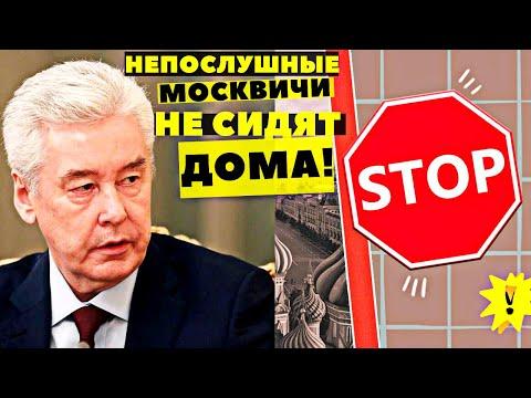 Собянин о том, что порядка 20% жителей Москвы игнорируют призывы о самоизоляции