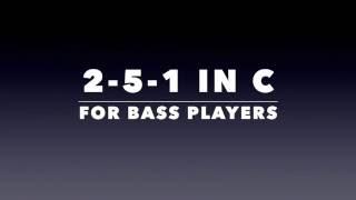 Jazz Bass Backing Track - Medium Swing 2-5-1 (C)
