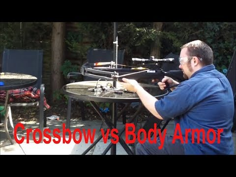 175lb Crossbow with broadhead vs Body Armor