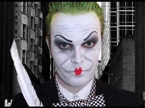 The Joker Jack Nicholson Mime Makeup Tutorial Youtube - Joker-makeup-tutorial