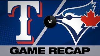 Blue Jays slug 4 homers in 19-4 win | Rangers-Blue Jays Game Highlights 8/12/19