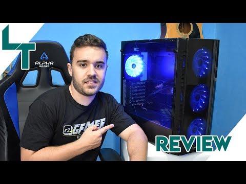 Conheça nosso gabinete gamer w1 - artic blue! Review feito pelo canal luigitec.