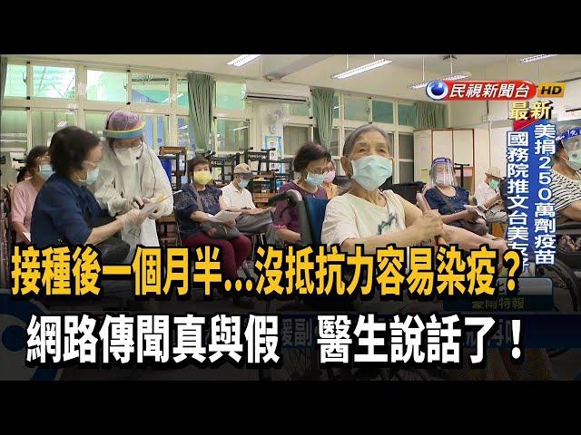 接種2週後產生抗體 止痛藥有症狀再吃-民視台語新聞