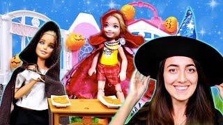 Barbie ve Sevcan Chelsea için  Halloween sürprizi yapıyorlar
