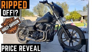 Ripped Off? How Much I Paid: Club Style Harley Davidson Street Bob Custom Buy Stock vs Built
