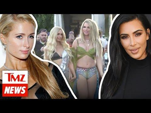 Former BFF Kim Kardashian On Set for Paris Hilton's New Music Vid | TMZ NEWSROOM TODAY