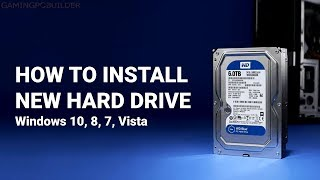 How To Install New Hard Drive + Disk Check