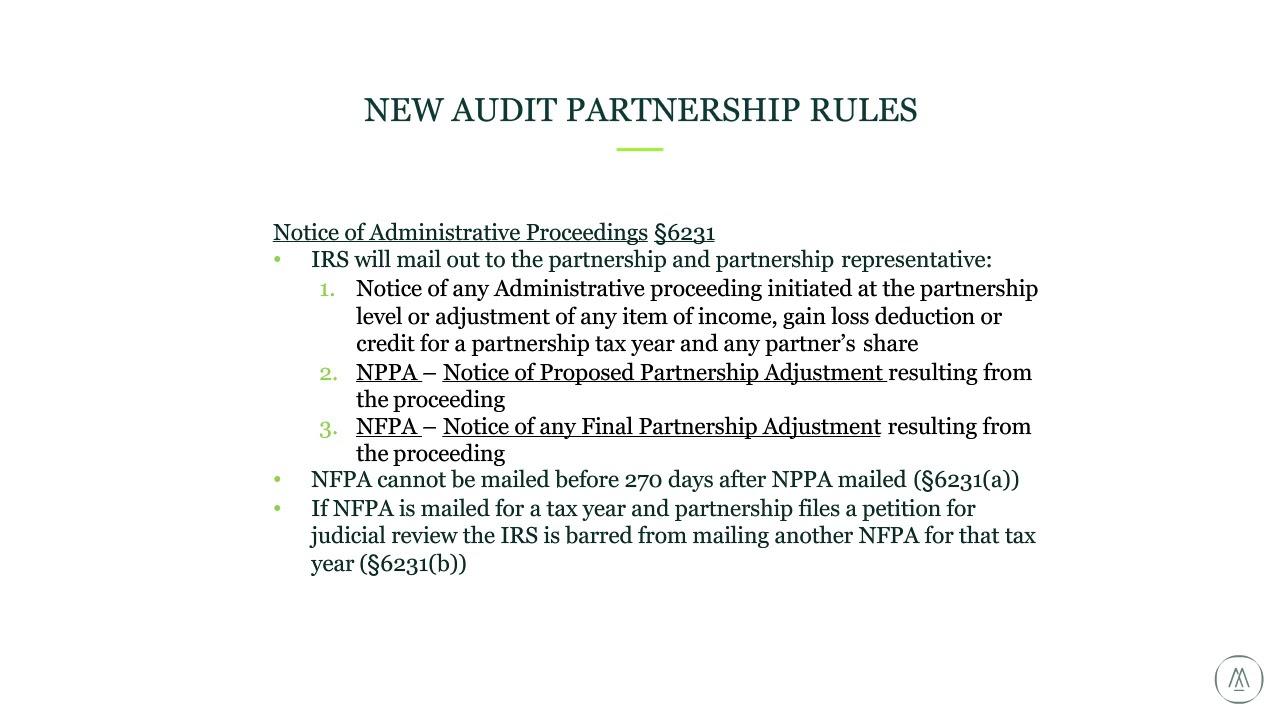 form 1065 centralized partnership audit regime  Understanding the New Centralized Partnership Audit Regime