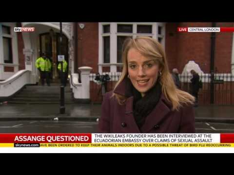 Assange questioned by Swedish prosecutor - Rebecca Williams