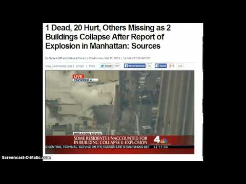 Update! 2 Dead, 20 Hurt! People Missing! NYC Explosion 2 Buildings Explode!