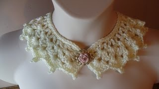 CROCHET How to #Crochet Victorian Style Collar Necklace #TUTORIAL #226 LEARN CROCHET DYI