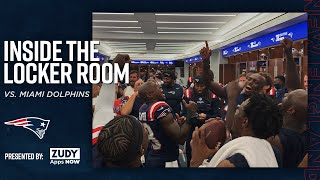 Patriots Celebrate Win Oטer Dolphins | Inside the Locker Room