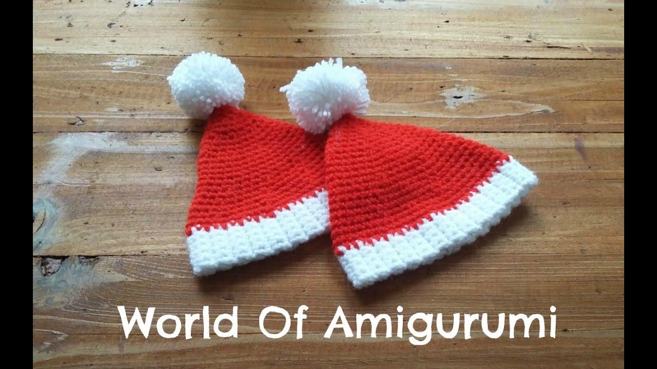 Cappello di Babbo Natale per Amigurumi How to crochet a ...