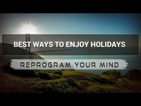 Enjoying Holidays affirmations mp3 music audio - Law of attraction - Hypnosis - Subliminal