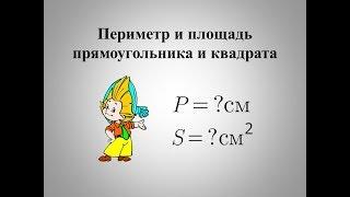 Периметр и площадь квадрата и прямоугольника.