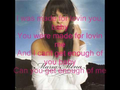 I was made for loving you Maria Mena with Lyrics
