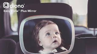 Video: Diono Easy View Plus beebipeegel autosse