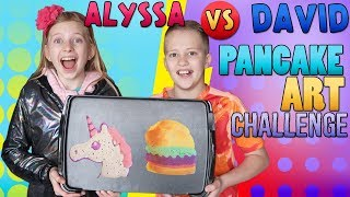 Pancake Art Challenge vs My Brother